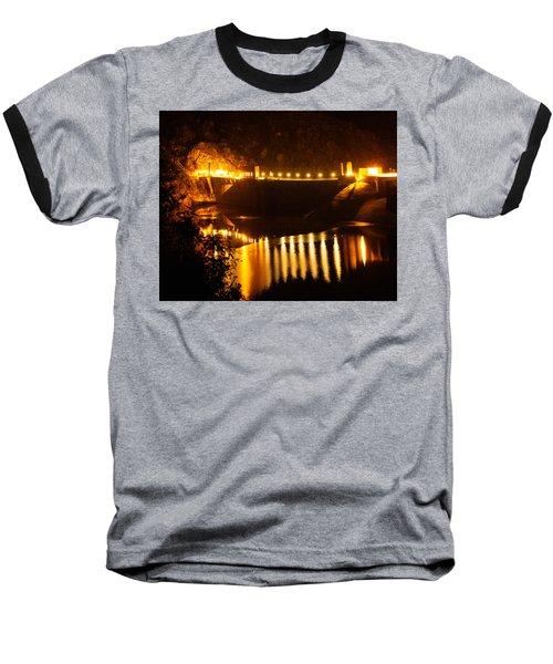 Moonlit Dam Baseball T-Shirt