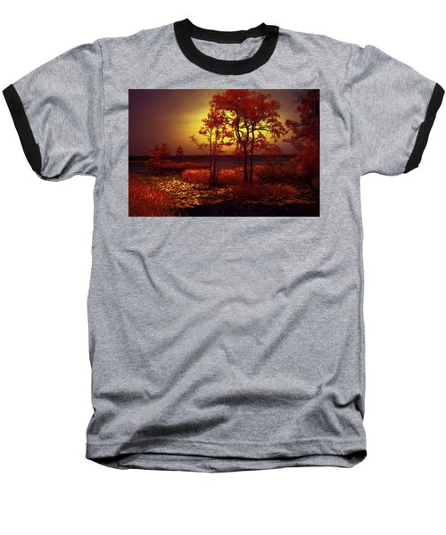 Moonlit Night Baseball T-Shirt