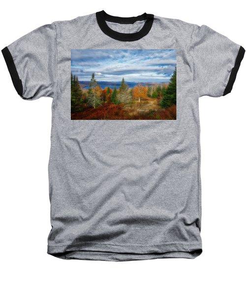 Mooselookmeguntic Lake Fall Colors Baseball T-Shirt
