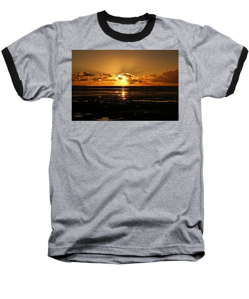 Morecambe Bay Sunset. Baseball T-Shirt