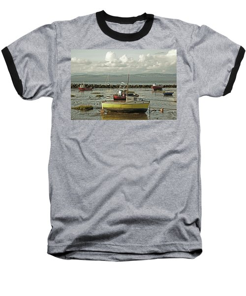 Morecambe. Boats On The Shore. Baseball T-Shirt
