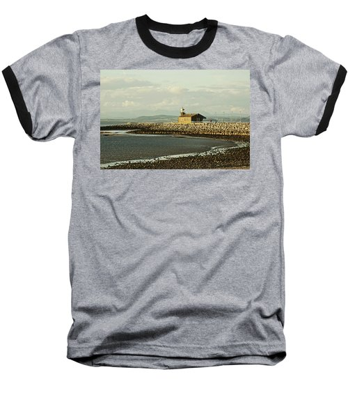 Morecambe. The Stone Jetty. Baseball T-Shirt