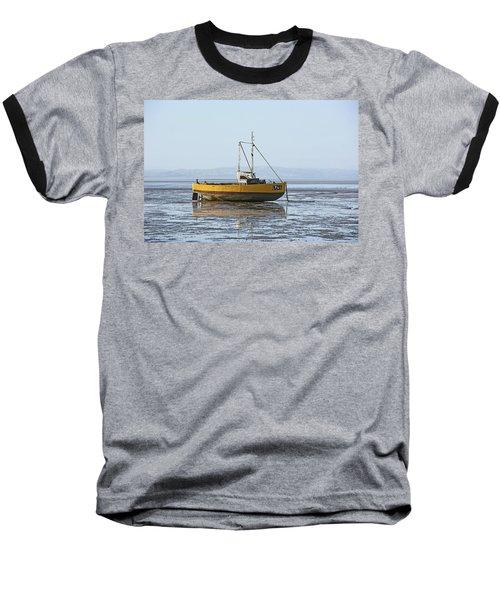 Morecambe. Yellow Fishing Boat. Baseball T-Shirt