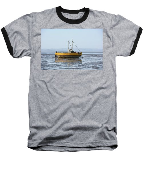 Morecambe. Yellow Fishing Boat. Baseball T-Shirt
