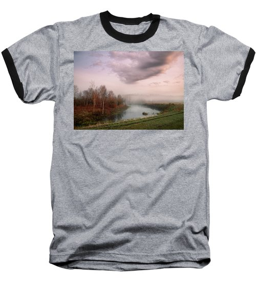 Morning By The Oxbow Baseball T-Shirt