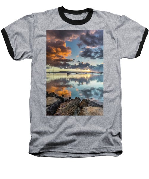 Morning Reflections Waterscape Baseball T-Shirt