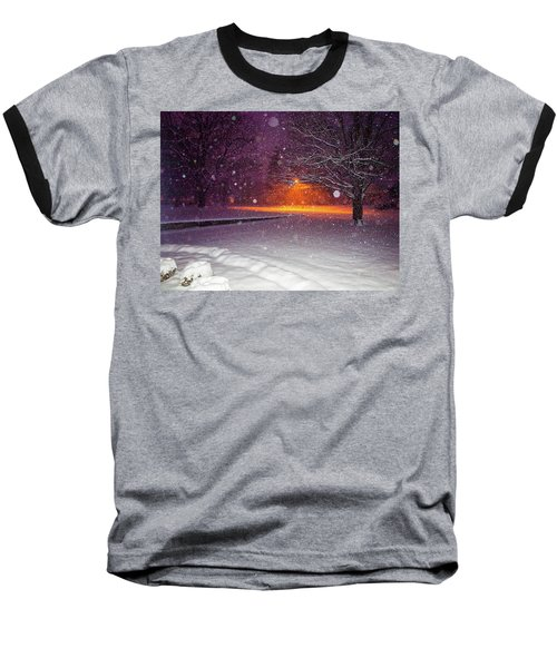Morning Snow Baseball T-Shirt