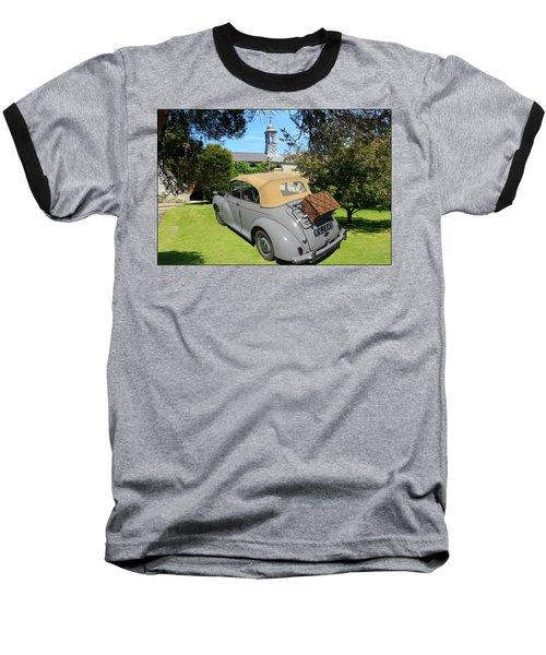 Morris Minor Grey Convertible Baseball T-Shirt