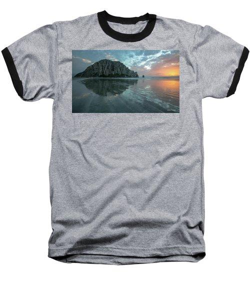 Morro Rock Sunset Baseball T-Shirt