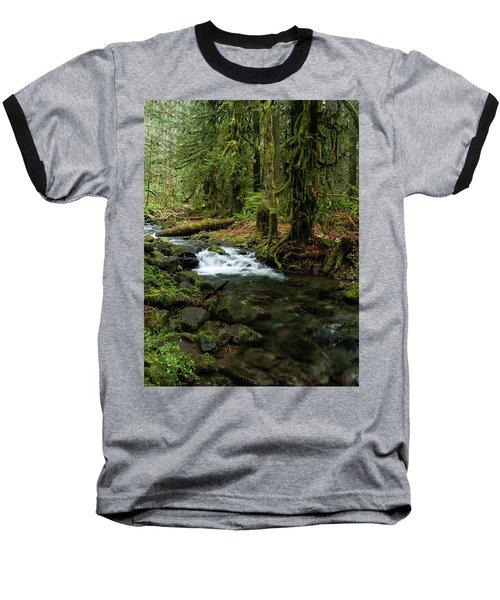Mossy Cascade Baseball T-Shirt