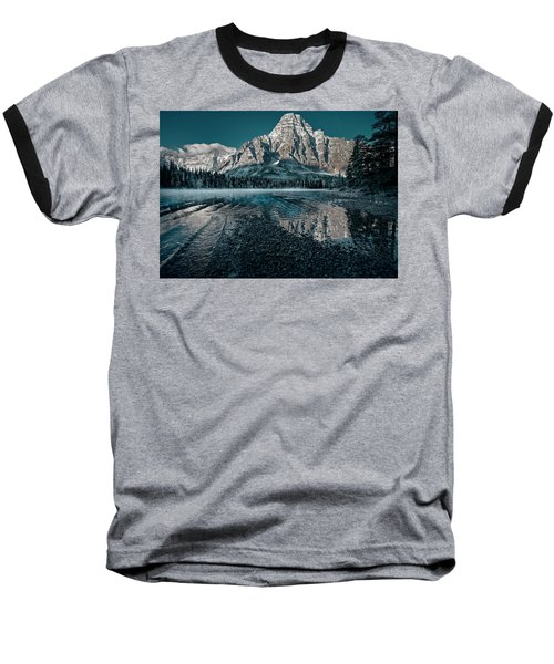 Mount Chephren Reflected Baseball T-Shirt