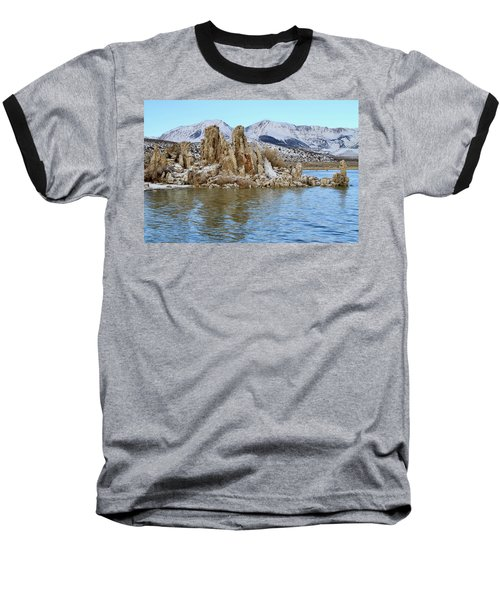 Mount Dana At Dawn  Mono Lake Baseball T-Shirt