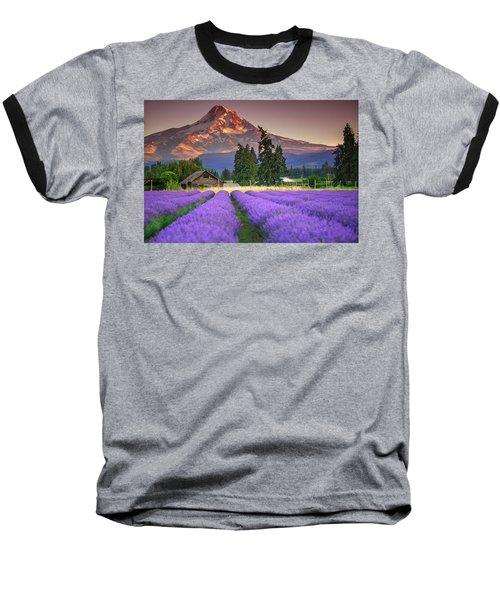Mount Hood Lavender Field  Baseball T-Shirt