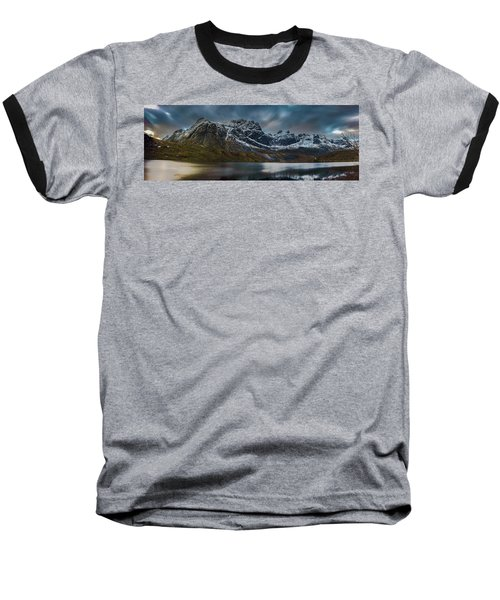 Mountain Lake In Norway On Lofoten Near Nusfjord Baseball T-Shirt