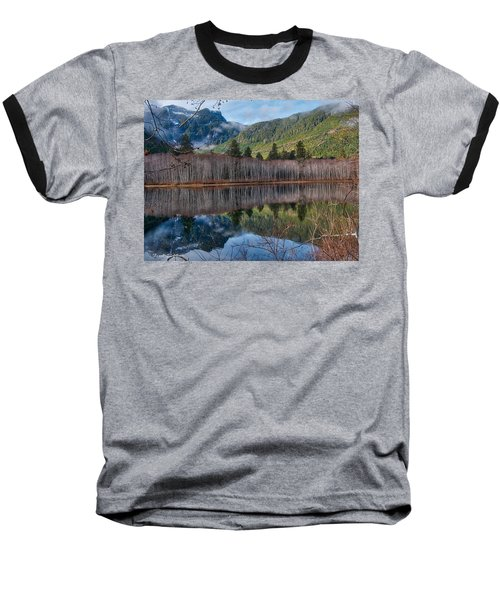 Mountain Lake Reflections Baseball T-Shirt