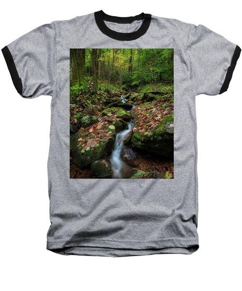 Mountain Stream - Blue Ridge Parkway Baseball T-Shirt