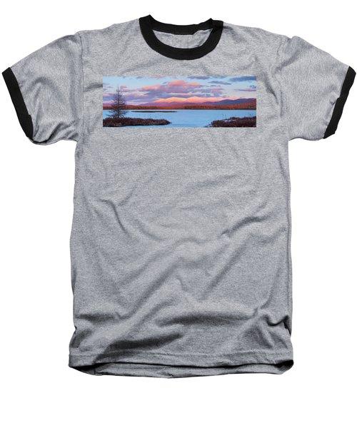 Mountain Views Over Cherry Pond Baseball T-Shirt