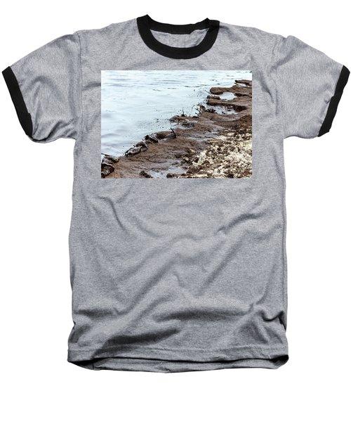 Muddy Sea Shore Baseball T-Shirt