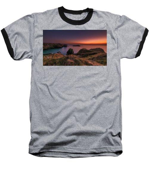 Mullion Cove - Sunset 2 Baseball T-Shirt