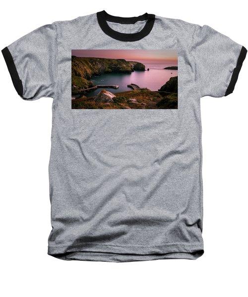 Mullion Cove Sunset - Cornwall General View Baseball T-Shirt