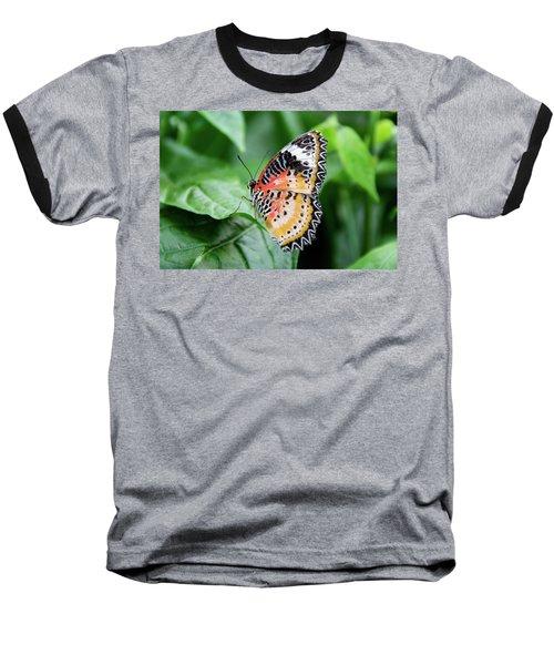 Multi Colored Butterfly Baseball T-Shirt