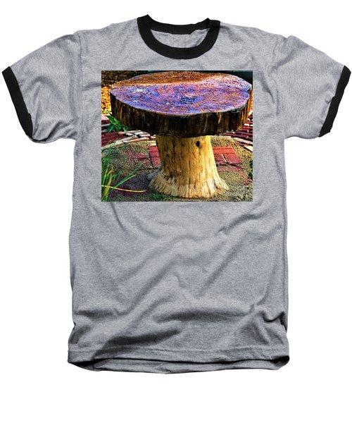 Mushroom Table Baseball T-Shirt