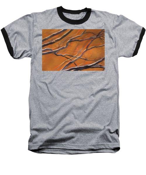 Baseball T-Shirt featuring the mixed media Mystic Forest 12 by Lynda Lehmann