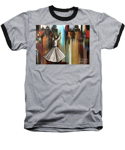 Baseball T-Shirt featuring the painting Mystical Journey  by Nizar MacNojia