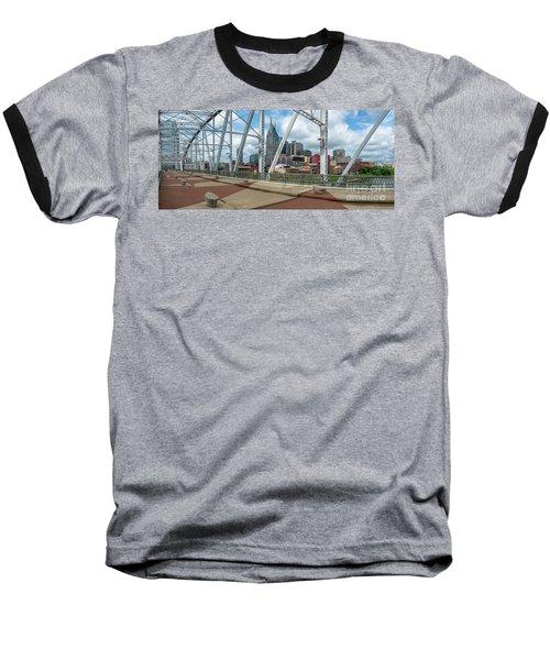 Nashville Cityscape From The Bridge Baseball T-Shirt