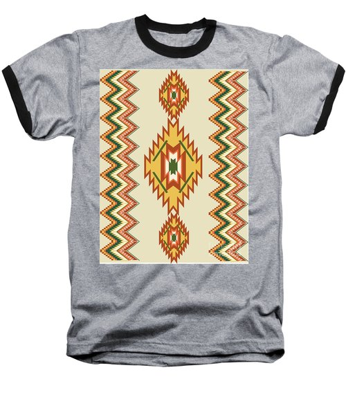 Native American Rug Baseball T-Shirt