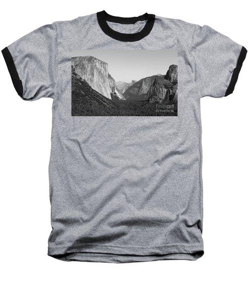 Nature At Its Best - Black-white Baseball T-Shirt