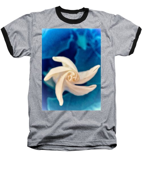 Baseball T-Shirt featuring the photograph Nature's Pinwheel - Sacred Datura by Judy Kennedy