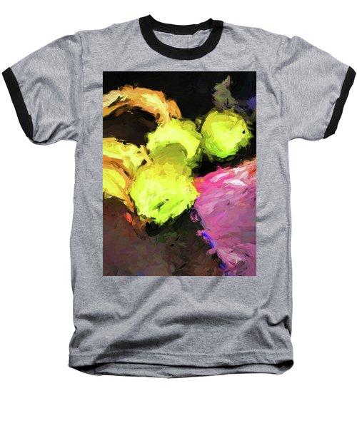 Neon Apples With Bananas Baseball T-Shirt