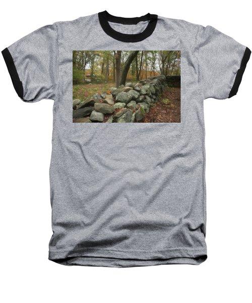 New England Stone Wall 1 Baseball T-Shirt