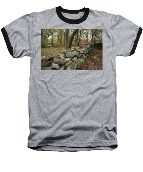 New England Stone Wall 1 Baseball T-Shirt