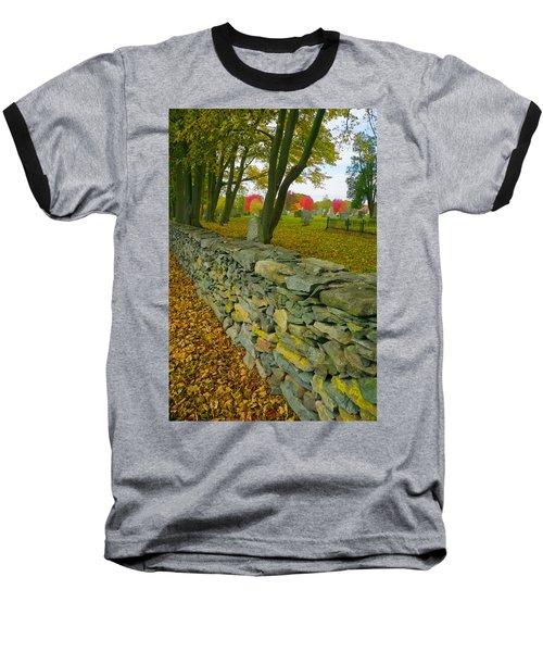 New England Stone Wall 2 Baseball T-Shirt