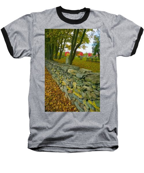 New England Stone Wall 2 Baseball T-Shirt