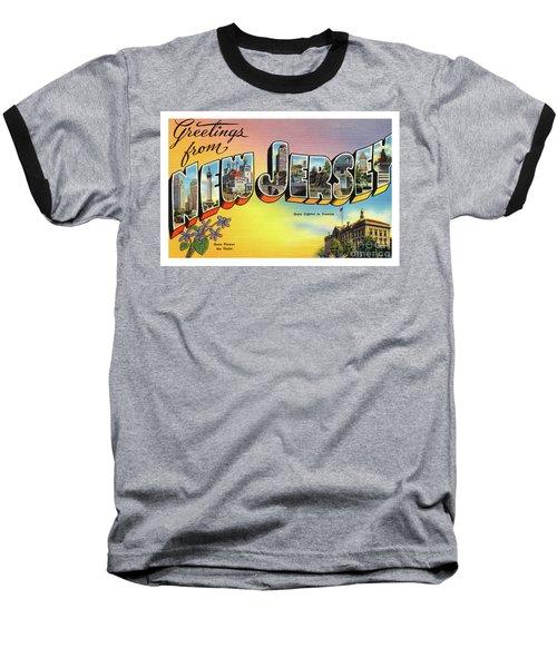 New Jersey Greetings - Version 2 Baseball T-Shirt
