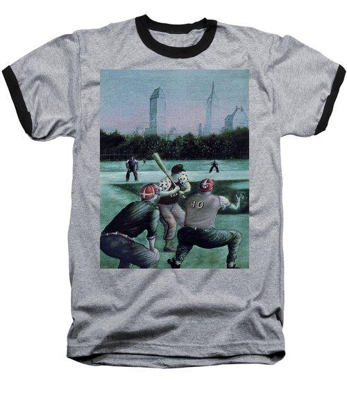 New York Central Park Baseball - Watercolor Art Painting Baseball T-Shirt