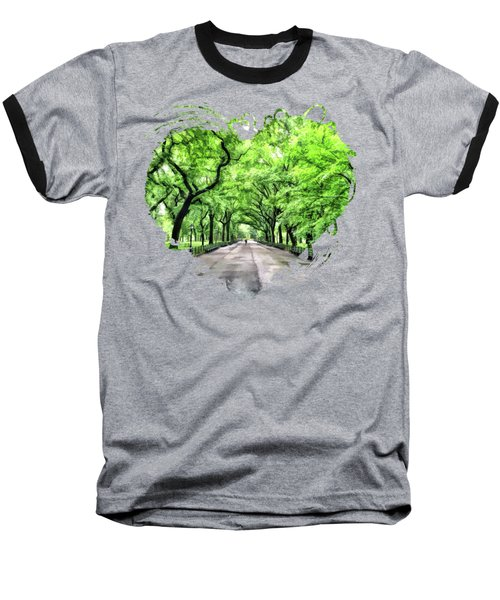 New York City Central Park Mall Baseball T-Shirt