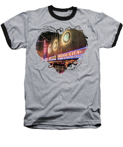 New York City Radio City Music Hall Baseball T-Shirt