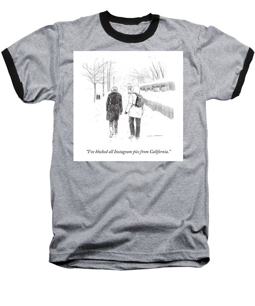 New York Snowstorm Baseball T-Shirt