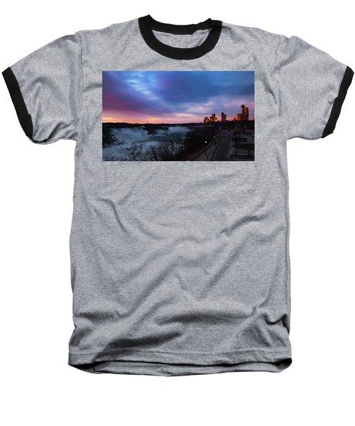 Niagara Falls At Sunrise Baseball T-Shirt