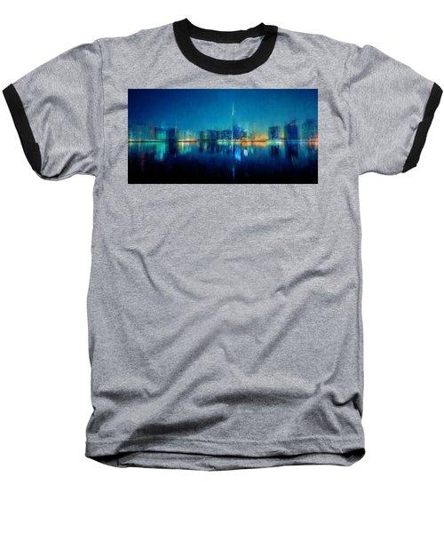 Night Of The City Baseball T-Shirt