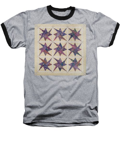 Nine Stars Dipping Their Toes In The Sea Sending Ripples To The Shore Baseball T-Shirt