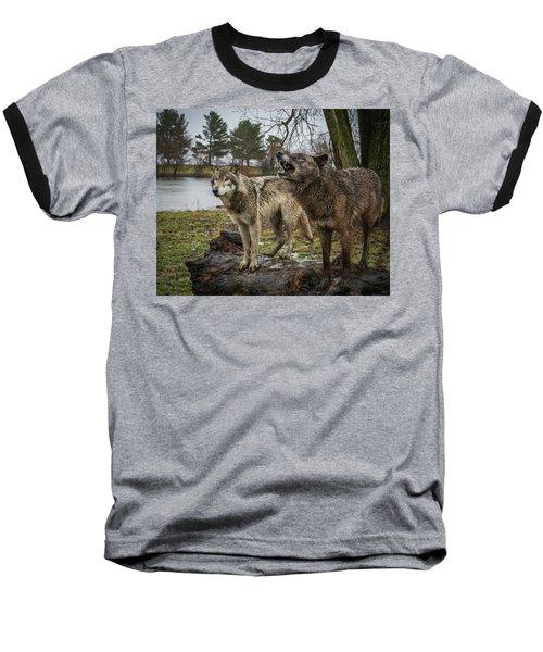 Noisy Wolf Baseball T-Shirt