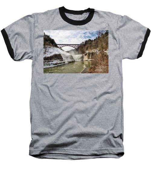 Winter At Letchworth State Park Baseball T-Shirt