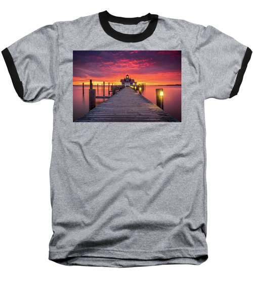 North Carolina Outer Banks Manteo Lighthouse Obx Nc Baseball T-Shirt