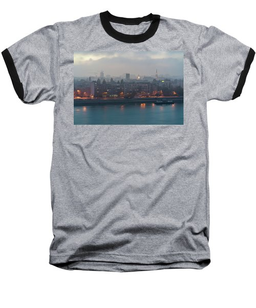 Novi Sad Night Cityscape Baseball T-Shirt