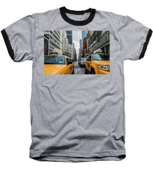 Ny Taxis Baseball T-Shirt